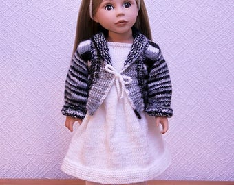 American Girl Doll Black and white knit clothes