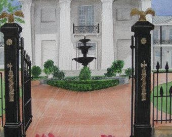 """ORIGINAL WATERCOLOR PAINTING, The Old State House, Little Rock Arkansas, 11""""x 14"""" by Suzanne Churchill, Arkansas Historic Building"""