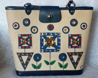 Enid Collins, Collins of Texas, Vintage Handbag, Signed, Starlight