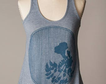 women's tank top, soft blue tank top, comfortable athletic wear, athleisure wear