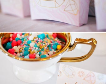 Gemstones | Diamonds | Gems Birthday PRINTABLE Party Collection - You Customize EDITABLE TEXT >> Instant Download | Paper and Cake