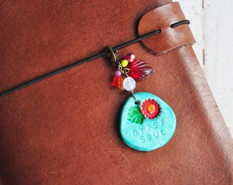 Gypsy Soul - Boho Planner Charm - Travelers Notebook - Journal - Midori - Bible - Planner - Scrapbooking - Charm - Clip