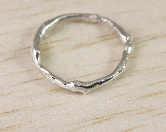 Sterling Silver Branch Ring, Silver Tree Ring, Branch Jewellery,  Silver Twig Ring, Nature Jewellery, Silver Branch Wedding Ring