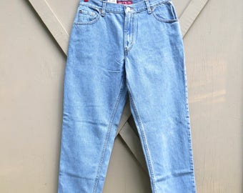 90s vintage NOS Levi's 550 High Waist Relaxed Fit Tapered Leg Stone Wash Jeans / Deadstock Levi's 550 Misses Relaxed Tapered Classic Cut