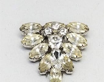 Rhinestone Vintage Fur Clip or Prong Clip for Everything