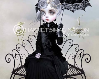 Melancholy Art Print - Lolita and skeletal birds - Archival Print - Wall Art - Lolita - You Will Always Be A Part Of Me