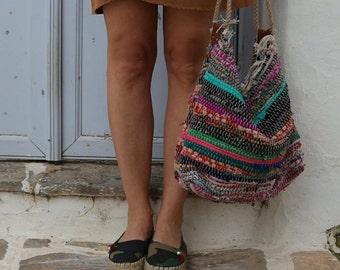 Hobo Bag. Large Everyday Bag. Shoulder Kilim Bag. Large Boho Beach Bag. Fabric Shopping Bag. Boho Tote Bag. Gypsy Kourelou Bag