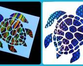Sea Turtle Vinyl Decal Sticker Die Cut Custom Car Window Laptop Tumbler Water Bottle Bumper - You Choose Size and Color