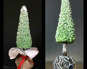 Christmas Tree, Root Ball, Canvas Bag, Miniature Evergreen, Home Decor