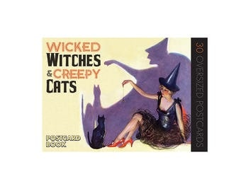 Wicked Witches & Creepy Cats - A Halloween Postcard Book
