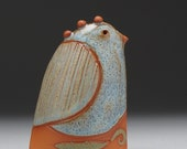 Ceramic bird, handmade, home decor,earth colors, gift, clay