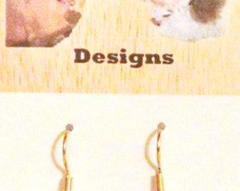 Orange Ladybug Polymer Clay Earrings