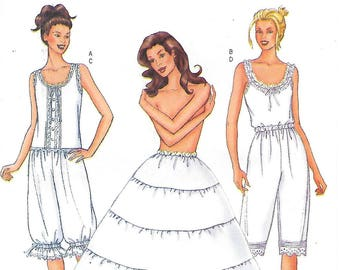 Butterick 6884 Camisole Pantaloons and Hoop Skirt Sewing Pattern Sizes 6 8 10 Civil War Costume