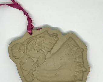 Vintage Angel Cookie Mold Brown Bag Cookie Art 1987