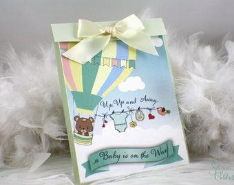 Hot Air Balloon Baby Shower Invitation | Teddy Bear Baby Shower Invitation | Hot Air Baby Shower | Hot Air Balloon Baby Shower | Cute invite