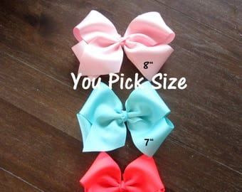 Extra Large Bows, Big Bows, Dance Bows, You Pick 5, Lot Set Bundle, Southern Style Bow, 6 7 or 8 Inch Bows, Texas Sized Bow, Jumbo Bows, m2m