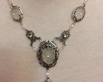 Silver Sparkling Bridal Dazzling Necklace