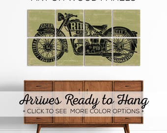 Motorcycle Artwork - Motorcycle Decor - Motorcycle Gift for Him - Vintage Motorcycle - Men Motorcycle Gift - Motorcycle Gift for Her