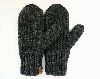 Mittens // Chunky Knit Mittens // Knitted Mittens // Women's Mittens // Men's Mittens // Children's Mittens // Grey Mittens
