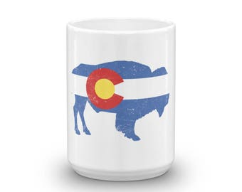 State Flag of Colorado - Bison Mug