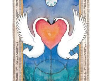 Imbolc Swan Print