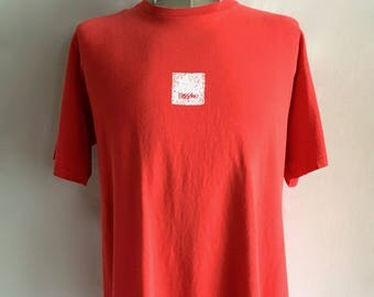Vintage Men's 90's Mossimo Limited Edition, T Shirt, Red, Short Sleeve (XL)