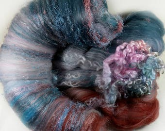 Vista Wild Card Bling Batt for spinning and felting (4.2 ounces), batt, art batt