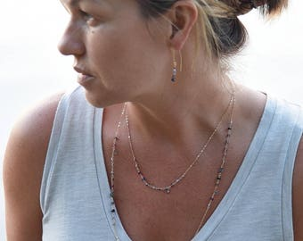 """""""Adelaide"""" Long Gemstone  Necklace"""