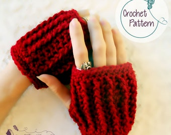Festival fashion gloves, crochet pattern for women, hand warmers, PDF, crochet glove pattern, Instant download, fingerless gloves, mittens