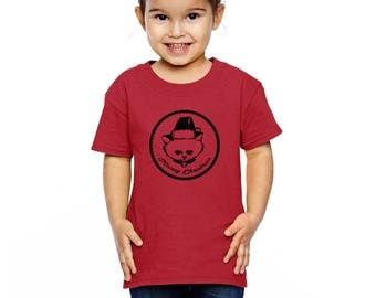 Meowy Christmas Shirt For Kids, Toddler Shirt, Cat Christmas Shirt, Cat in Santa Hat, Hand Screen printed, Holiday Gifts For Boys and Girls