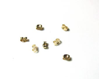 14K Butterfly Earring Backs, Small Solid Gold Clutch backs for Stud Earrings, Stud Earring Backs in Solid Gold