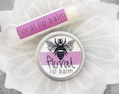 Organic Floral Lip Balm // All Natural