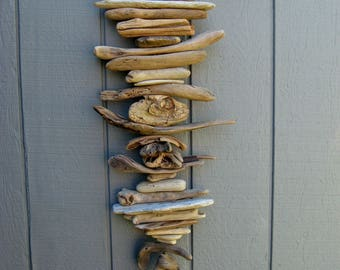 Driftwood Mobile With Big Eyed Driftwood Fish-DC1366