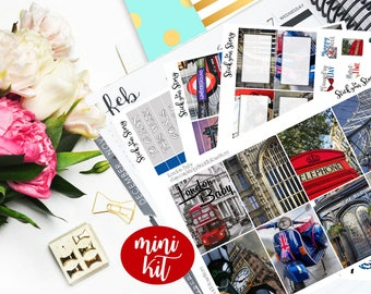 London Vacation Travel Photo Mini Weekly Planner Vertical Student Sticker Kit Glossy - Stick to Your Story