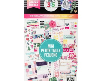 Choose Happy Create 365 Happy Planner Sticker Value Pack Mini (749/Pkg) Me & My Big Ideas (PPSV-43-3048)