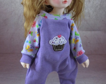 CUPCAKE Kigurumi Inspired Coverall Onsie Body Suit for YOSD Fairyland Littlefee, Kaye Wiggs Tiny Tillie, Wizworx Ted, Mini Pepper Annie