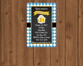 Oktoberfest Invitation, Octoberfest Invitation, Germany Festival Invitation, Beer Invitation