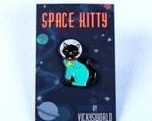 Cat Pin - Space Cat Pin - Enamel Pin - Enamel Cat Pin - Cat Jewellery - Soft Enamel Pin - Cat Jewelry
