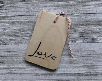 Love Wood Tag
