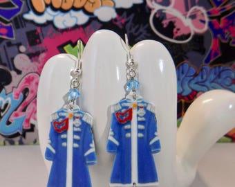 The Beatles Sgt Pepper Blue Coat Dangle Earrings