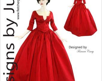 Outlander Claire Dress Pattern for 45.5cm Iplehouse FID dolls