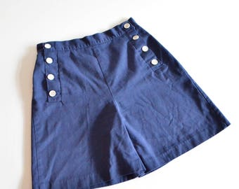 Vintage 1990s NAUTICAL highwaist cotton shorts