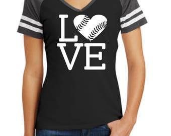 Baseball Love Shirt, Softball Love Shirt, Ladies Shirt, Baseball Love, Softball Love