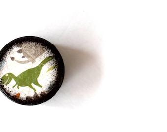 Dinosaur Pill Box, Small Pill Box, Kids,  Wooden Boxes, Dino, Boys Room, Keepsake Box, Wood Box,  tooth fairy box, T - Rex
