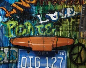 "Street Smarts All-City Panel from Frond Design Studios - 24"" x 44"" - Graffiti Peace love"