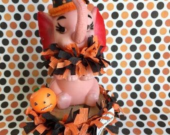 Vintage Pink Elephant, Halloween Decoration,
