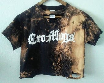 Cro Mags TShirt / Crop Top / Half Tee / Belly Top / Band TShirt / Music Festival / Graphic Tee / Indie / Grunge / Rocker Tee / Punk Rock
