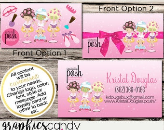 Perfectly Posh Spa Girl Independent Consultant Business Card Design - Business Cards - Multi Level Marketing - MLM - Free Shipping USA ONLY!