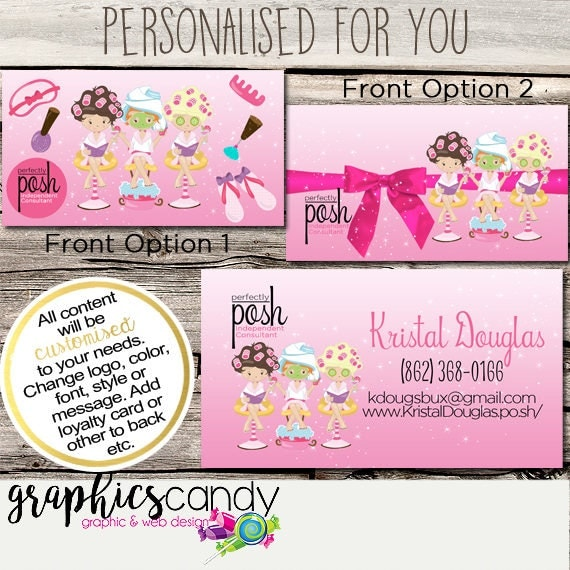 Perfectly posh spa girl independent consultant business card design il570xn reheart Image collections