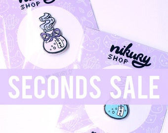 20c SECONDS PIN With Normal Pin Order (read description!) - Flawed Hard Enamel Pins - Pastel Potion Bottles